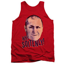 Three Stoogies Slapstick Famous Comedy Group Why Soitenly Adult Tank Top Shirt