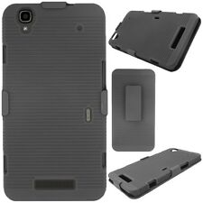 Premium Black hard cover case belt clip holster With Stand for Smart phones