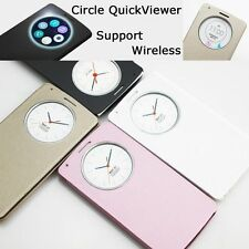 Hot Slim Quick Circle Window Leather Flip Case Cover for LG G3 D850 D855 + Film