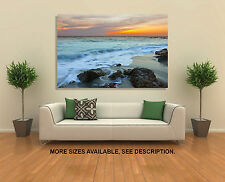 Wall Art Canvas Picture Print (Unframed) - Venice Beach Florida Sunset