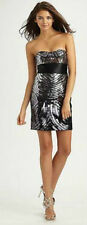 NEW BCBG MAX AZRIA BLACK COMBO SILK SATIN SEQUINS COCKTAIL DRESS $578