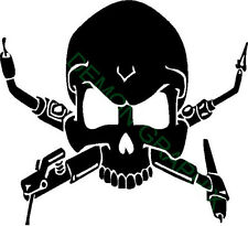 Welding skull vinyl decal/sticker welder weld pipeline mig tig arc