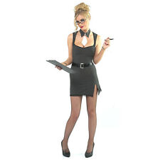 SAUCY SECRETARY FANCY DRESS OUTFIT COSTUME, SIZES: S-XL