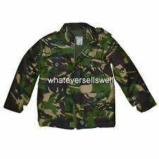 KIDS PADDED CAMO JACKET water repellent childs army DPM