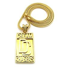 Hot New Dream Chaser Gold Tone Hip Hop Pendant Chain Linked Necklace XP944