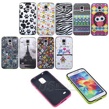 Tribal Eiffel Tower Cartoon TPU Rubber Bumper Hard Back Protect Skin Case Cover