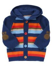 GYMBOREE BRAND NEW BABY MULTI COLOR STRIPE HOODED SWEATER 0 3 6 12 NWT