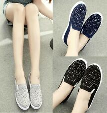 NEW HOt Sale Women's Pull On Canvas Shoes School Girls Slip On Loafers Sneakers