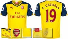 *14 / 15 - PUMA ; ARSENAL AWAY SHIRT SS + PATCHES / S. CAZORLA 19 = SIZE*