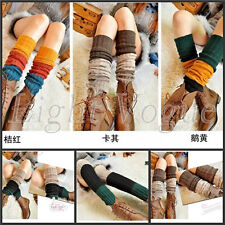 Womens' Knit Crochet Leggings Ladies' Knee Leg Warmer Winter  Ankle Socks TW17