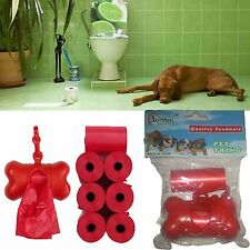 DOG PET POOP BAGS CLIP ON BONE SHAPE DISPENSER-PET WASTE POOP BAGS