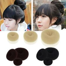 Women Girl Magic Blonde Donut Hair Ring Bun Former Shaper Hair Styler Maker Tool