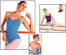 NEW! WOMENS DANCE BALLET LEOTARD WITH DIAGONAL STRAPS. 3 COLORS AVAILABLE!