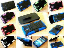 RUGGED ARMORED HYBRID CASE COVER CLIP HOLSTER FOR SAMSUNG GALAXY MEGA 6.3 PHONE