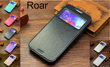 Leather Flip S-View Case Stand Cover For iPhone 5 5S Sony Z1 Z2 HTC M8 LG G2 G3
