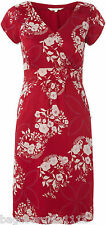 NEW WHITE STUFF RED IVORY LOTTIE VINTAGE STYLE TUNIC TEA PARTY DRESS SIZE 8-18