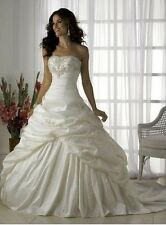 wedding dress white/ivory in stock size 6 8 10 12 14 16 ,good price/quality A+++