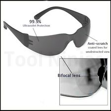 Bulldog Bifocal Safety Glasses Diopter Dark Reader Lens and Frame Choose Diopter