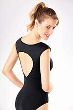NEW! WOMENS DANCE BALLET LEOTARD WITH A WIDE TEAR DROP BACK. 4 COLORS! (RDE1526)