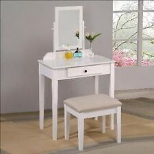 Espresso, Black, White Vanity makeup set stool & mirror new