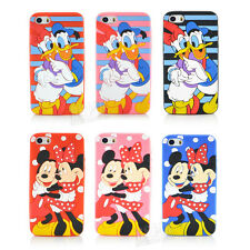 Cute Cartoon couples Soft Silicon Phone Cover Case For apple iphone 5 5S 5C 5G