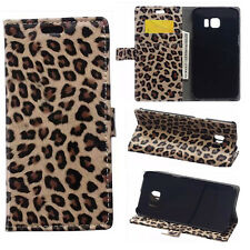 New Leopard Print PU Leather wallet flip slots Cover skin Case For Nokia
