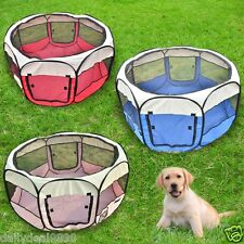 "Puppy Pet Dog Tent Soft Playpen 35""45""57"" Excercise Fordable Crate Pen w/BAG USA"
