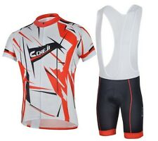 CHEJI Bicycle Team Short-sleeved Cycling Jersey Bike Sports Wear Suit Size M-3XL