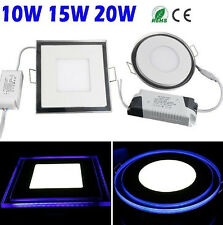 10/15/20W ROUND/SQUARE LED Recessed Ceiling Panel Bulb 24/80 SMD With Blue light