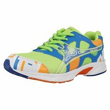 "MENS AIR TECH NEON GREEN / BLUE / ORANGE TRAINERS ""ACTIVE"""