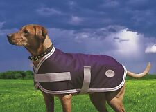 Weatherbeeta Parka (Landa) Waterproof Dog Jacket Warm Coat - Navy & Silver