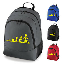 Evolution Of Lego Funny School Work Backpack Rucksack Bag NEW