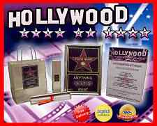 NEW & PERSONALISED HOLLYWOOD STAR WALK OF FAME BIRTHDAY GIFT 16TH 18TH 21ST