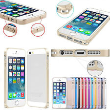 0.7mm Slim Aluminum Metal Hard Bumper Frame Case Cover for iPhone 4 4S 5 5S 5C