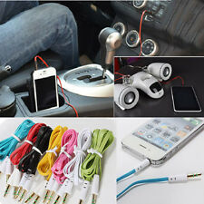 Noodle 3.5mm Male M/M Stereo Audio AUX Cable Adapter Cord for PC iPod MP3 Car