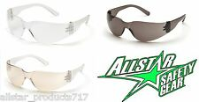 Pyramex Mini Intruder Safety Glasses Clear Gray Clear Mirror Lens Women's Youth