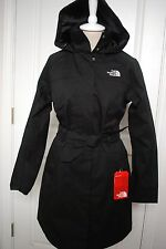 NWT THE NORTH FACE WOMENS TOBA RAIN JACKET TRENCH WATERPROOF BLACK  sizes