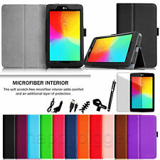 """For LG G Pad 7.0 7"""" V400 V410 Slim Folio PU Leather Case Stand Cover 7IN1 Bundle"""