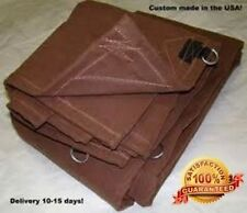 Super Grade A Waterproof Canvas Tarps for Sale 12 / 18 Ounce CANOPY cover