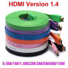 High speed HDMI Flat Cable V1.4 M to M 3D 1080P Ethernet for Xbox DVD HDTV PS3