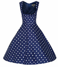 NEW LINDY BOP 'OPHELIA' VINTAGE 1950's POLKA DOT FLARED PARTY DRESS