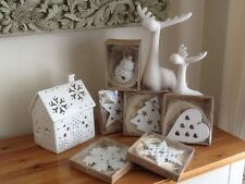 BN GISELA GRAHAM BEAUTIFUL WHITE BISQUE CERAMIC CHRISTMAS DECORATIONS VARIOUS