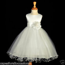 IVORY COMMUNION EASTER BAPTISM WEDDING FLOWER GIRL DRESS 12-18M 2 3T 4 5T 6 8 10