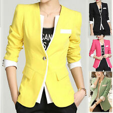 4 Colors Spring Women Slim Casual Long Sleeve Jacket Blazer Outerwear Coat Tops