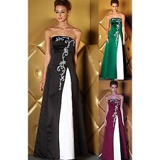 On Sale Low Price Charm Embroidery Formal Prom wedding Bridesmaid Gown Dress