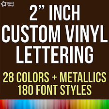 """2"""" Custom Vinyl Lettering Text Name Wall Window Decal Sticker Art Personalized"""