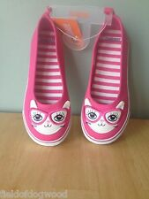 New Gymboree Bright Ideas SZ ALL Pink Rose CAT Kitty 3D EARS Skimmers Shoes