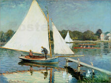 "Poster / Leinwandbild ""Sailing at Argenteuil"" - Claude Monet"