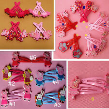 Cute Baby Girl Peppa Pig  Hair Clip Hairpin Bobby Pin Hair Accessories 10 Styles