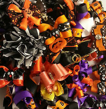 COZYMO Dog Grooming Bows Halloween Collection with Elastic Band